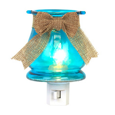Burlap Bow Night Lights