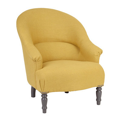 Teri Yellow Accent Chair