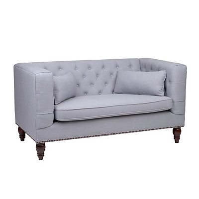Stella Gray Tufted Sofa