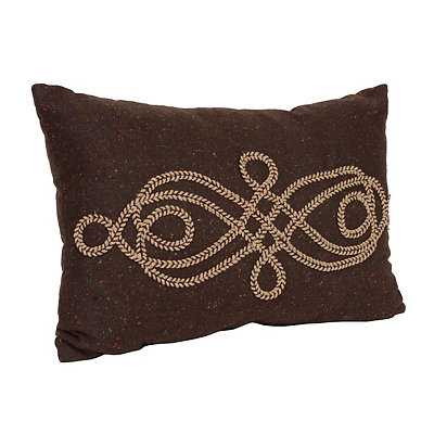 Brown Scroll Rope Accent Pillow