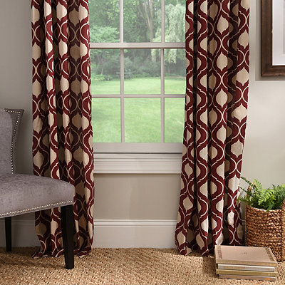 Burgundy Vanness Curtain Panel Set, 84 in.