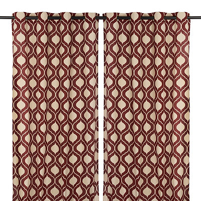Burgundy Vanness Curtain Panel Set, 96 in.