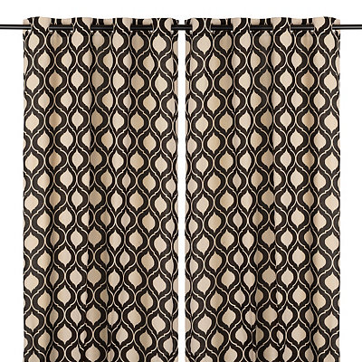 Black Vanness Curtain Panel Set, 96 in.