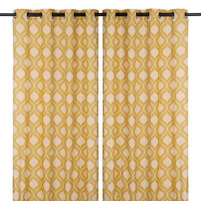 Yellow Vanness Curtain Panel Set, 96 in.