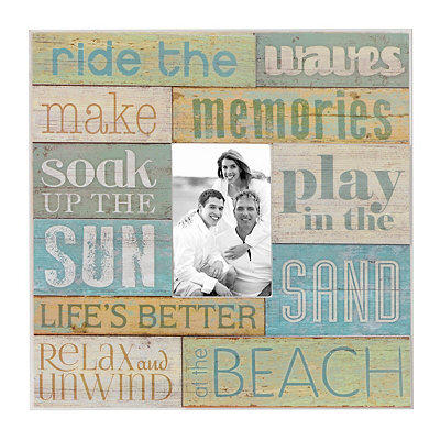 Coastal Wood Plank Picture Frame, 4x6