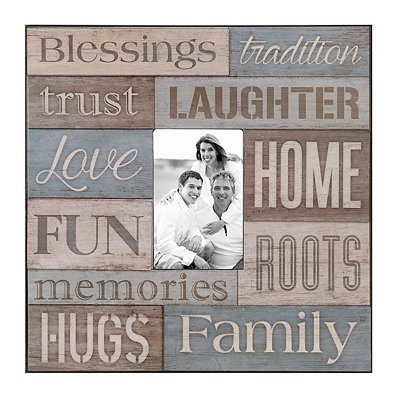 Family Blessings Wood Plank Picture Frame, 4x6