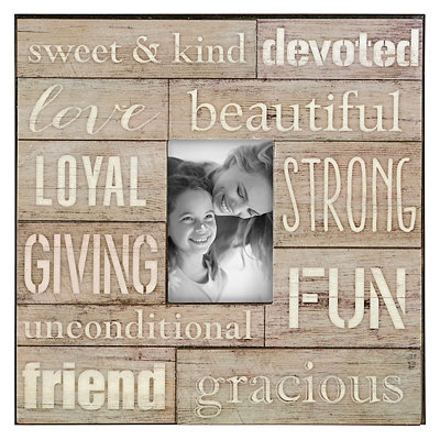 Gray Friendship Wood Plank Picture Frame, 4x6