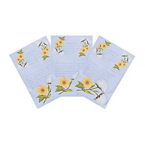 White Cotton Sachets, 3-pack