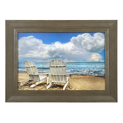 Beach Chairs Framed Art Print