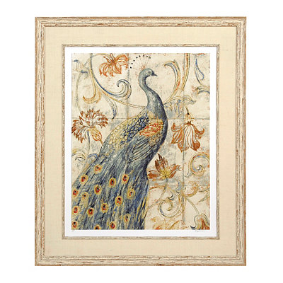 Rustic Peacock Giclee Framed Art Print