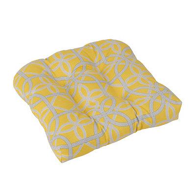 Geometric Yellow Outdoor Cushion