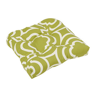 Green Geometric Outdoor Cushion