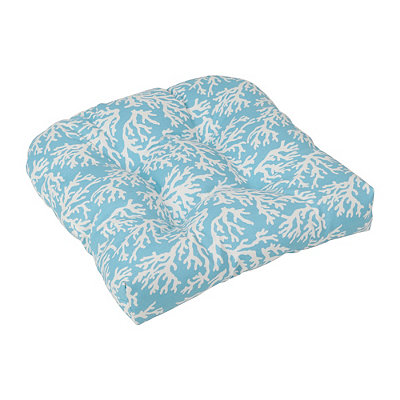 Aqua Coral Outdoor Cushion