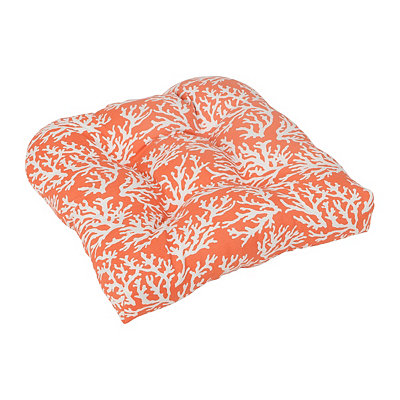 Orange Coral Outdoor Cushion