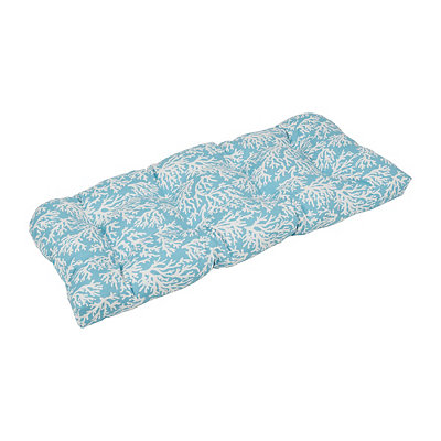 Aqua Coral Outdoor Settee Cushion