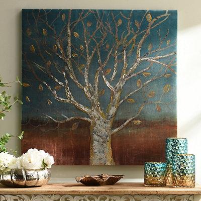 Longevity Metallic Canvas Art Print