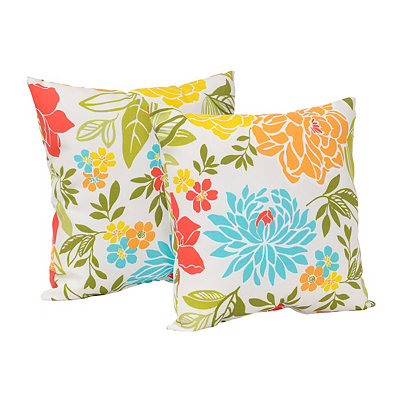 Spring Bling Outdoor Accent Pillows, Set of 2