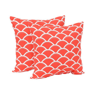 Sunny Red Outdoor Accent Pillows, Set of 2