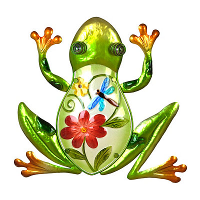 Glass Frog Metal Plaque