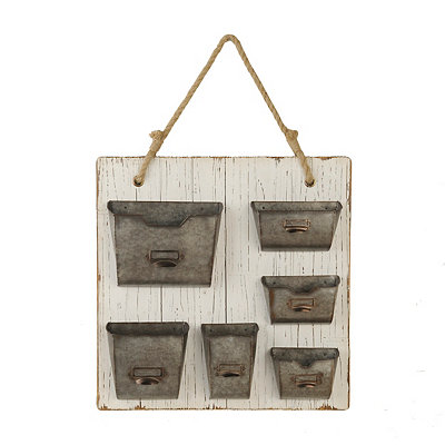 Distressed Wooden Wall Organizer