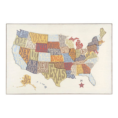 Pop Up US Map Wooden Plaque