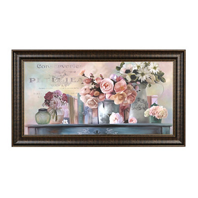 Blush Floral Framed Art Print