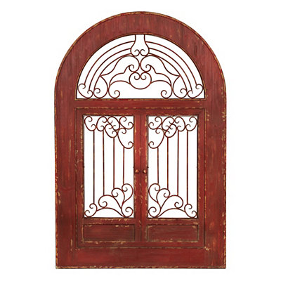 Red Arch Wooden Plaque