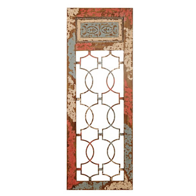Distressed Vintage Gate Metal Plaque