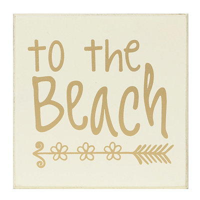 To The Beach Wooden Plaque