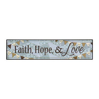 Faith, Hope, And Love Wooden Plaque