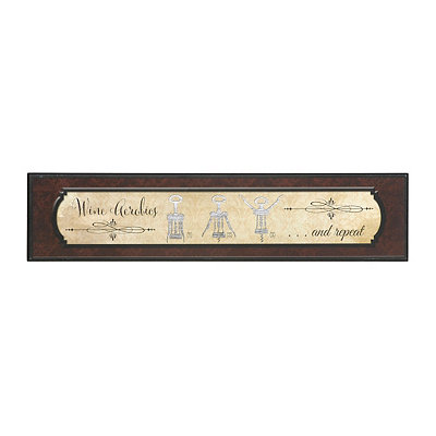 Wine Aerobics Wooden Plaque