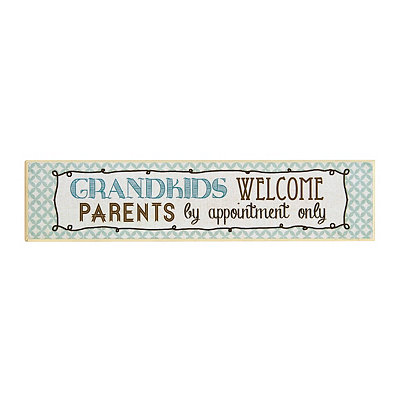 Grandkids Welcome Wooden Plaque