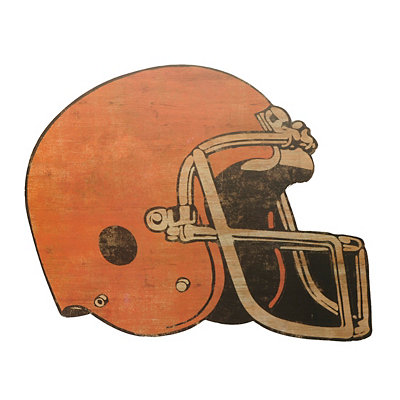 Vintage Football Helmet Wooden Plaque