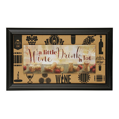 Corkboard Wine Framed Art Print