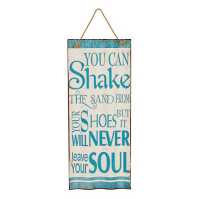 Shake the Sand Waved Metal Plaque