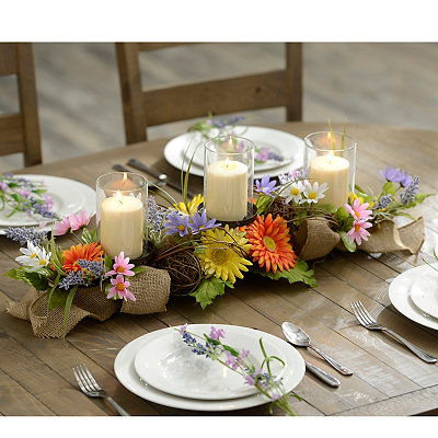Colorful Daisy Centerpiece