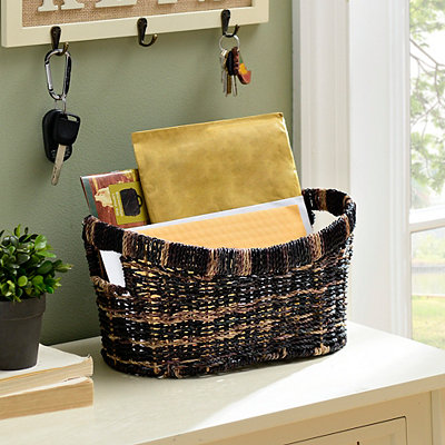 Two-Tone Woven Basket, Small