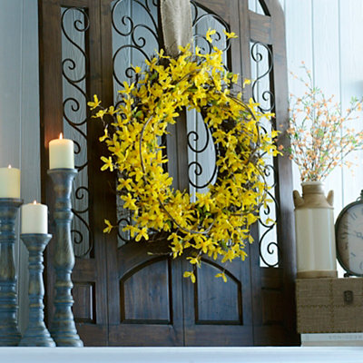 Yellow Forsythia Wreath