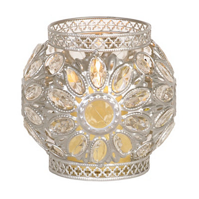 Silver Jeweled Lantern