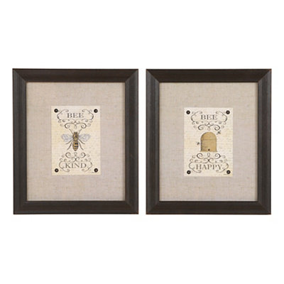 Bee Happy Framed Art Prints
