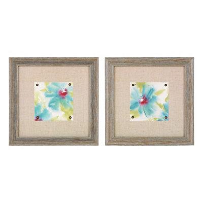 Aqua Cosmos Framed Art Prints