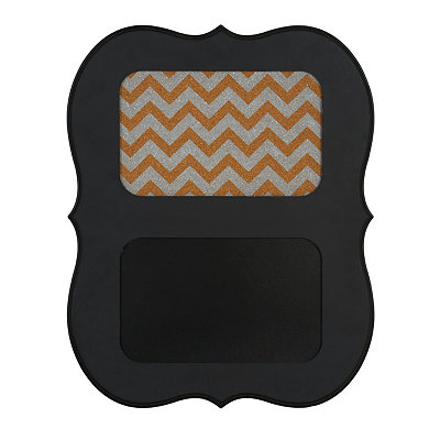 Black Chevron Corkboard And Chalkboard