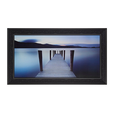 Bridge To The Deep Blue Framed Art Print