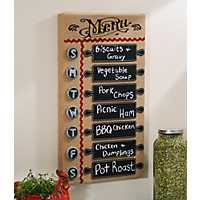 Wooden Days of the Week Chalkboard Plaque
