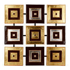 Metallic Squares Metal Plaque