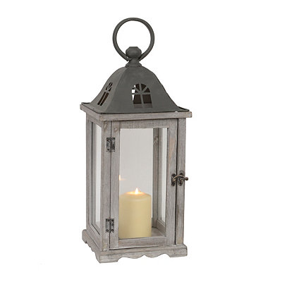 Large Rustic Gray Window Lantern
