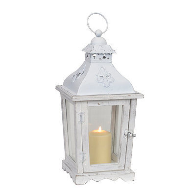 Rustic White Cottage Lantern