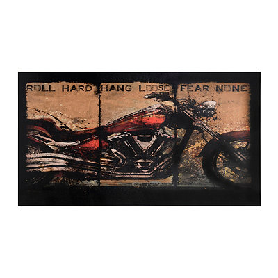 Fear None Motorcycle Canvas Art Print