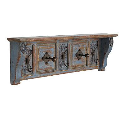 Distressed Blue Vintage Shelf