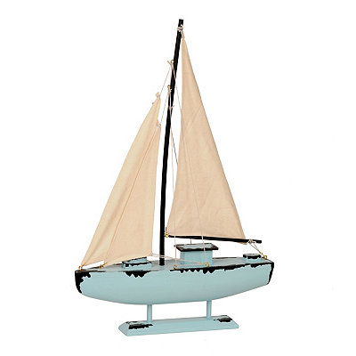 Blue Sailboat Statue